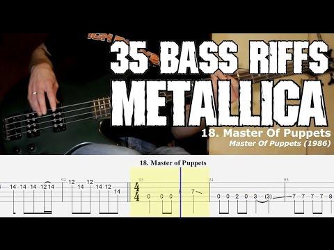 35 METALLICA BASS RIFFS + TABS (for 35th anniversary of first Metallica live show)
