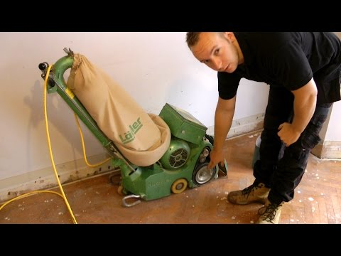 How To Use A Belt or Drum Floor Sander (demonstration and theory)