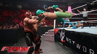 The Lucha Dragons & Los Matadores vs. The New Day & The Ascension: Raw, Aug. 3, 2015