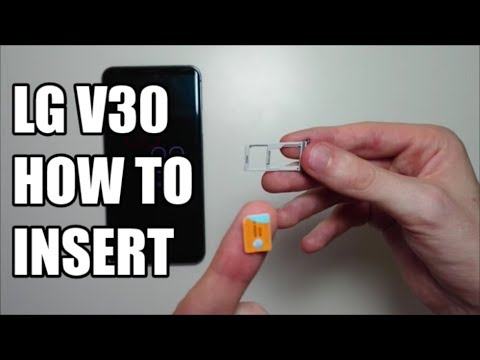 LG V30 SIM Card & Micro SD Card How to Insert or Remove