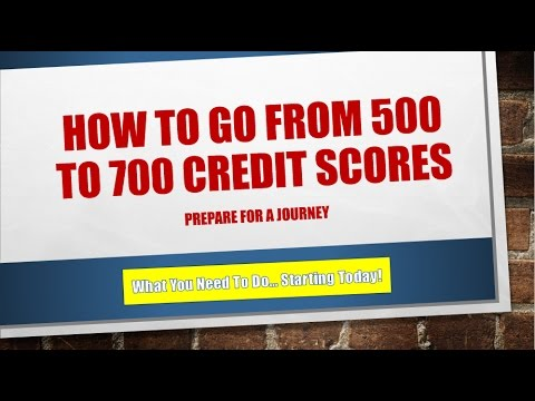 How To Go From 500 to 700 Credit Scores | And Credit Qualify For Home Financng