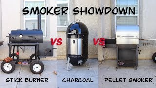 Smoker Showdown (Stick Burner Vs Charcoal Smoker Vs Pellet Smoker)