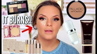 FULL FACE OF FIRST IMPRESSIONS! Drugstore & Highend   Casey Holmes