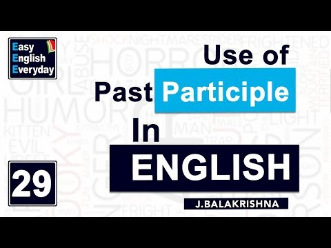 Spoken English Course Online |use of Past participle in English| Daily English conversation videos