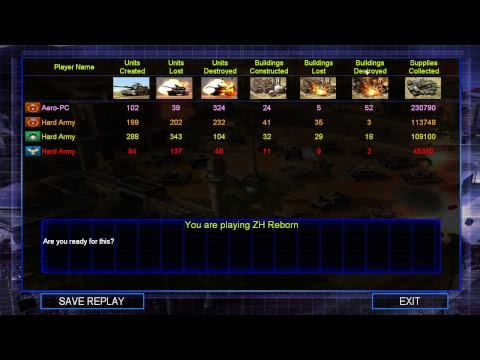 Command And Conquer Generals Zero Hour Reborn Mod Stream 5-7-17
