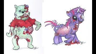 Our Childhood Characters Turned Into Scary Monsters and Horror Zombies