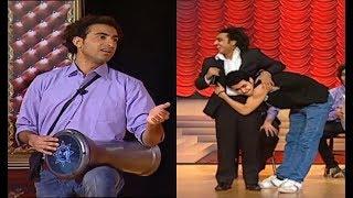 رد فعل محمد أنور بعد غناء أوس أوس على خشبة المسرح 🎤... هتموت من الضحك😂😂#تياترو_مصر