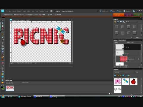 Using Photoshop Elements to Create Word Art, Part 2 of 2