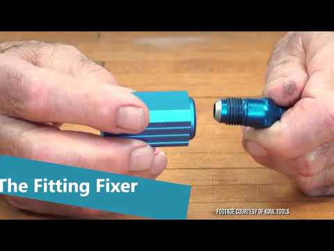 How to Repair Leaky Leaking AN Hose Flare Fittings Connectors Koul Tools