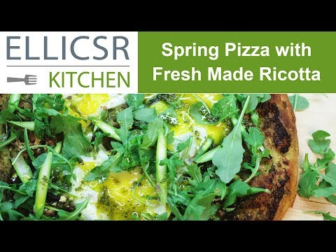Spring Pizza with Fresh Made Ricotta