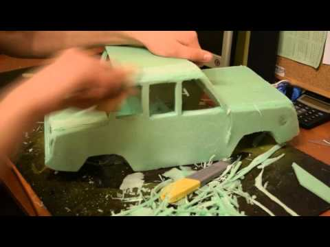 How to make RC car body shell СМЗ с3д