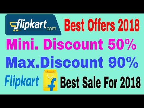 Flipkart happy new year offer for 2018 -  Min Discount 50% Max 90%