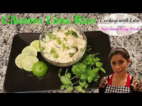 Cilantro Lime Rice - How to make Cilantro Lime Rice - Cooking with Lilia