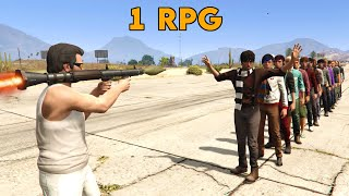 GTA V - How many people can you kill with 1 RPG?