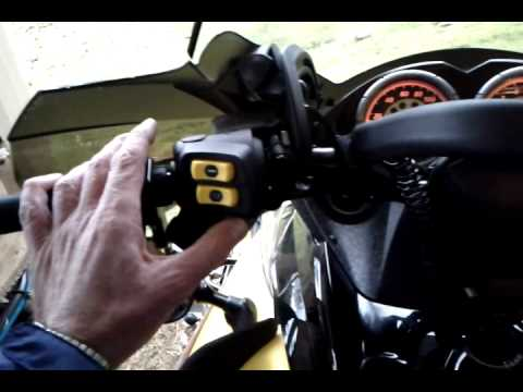 Lefty's left hand throttle control for a Skidoo Renegade 600 snowmobile [ side hill gold finger ]