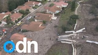 California homes buried by mudslides