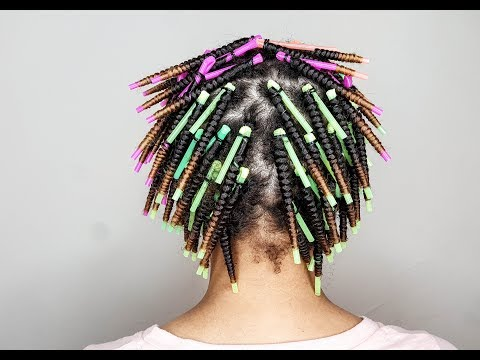 How To Straw Set On Natural Hair   Lotta Body Foaming Mousse
