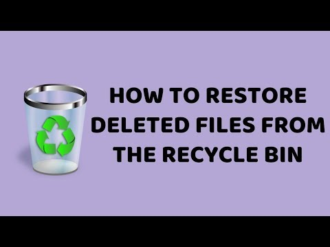 How to Restore Deleted Files From the Recycle Bin | Windows 10 Easy Tutorials in Hindi