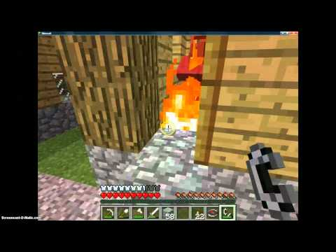 minecraft burning things