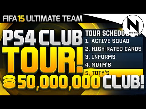 EPIC 50,000,000+ COIN PS4 CLUB TOUR! - FIFA 15 Ultimate Team