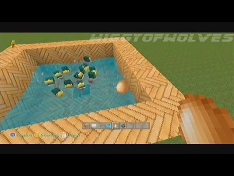 Minecraft XBOX 360 How to Make an Automatic Egg  Chicken Farm