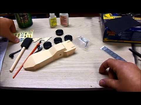 Batmobile Pinewood Derby Car Video 1