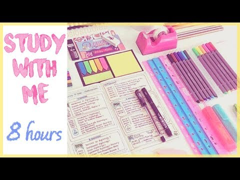 study with me (live) 8 hours!!