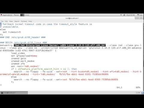 Set GRUB Password in RHEL 7