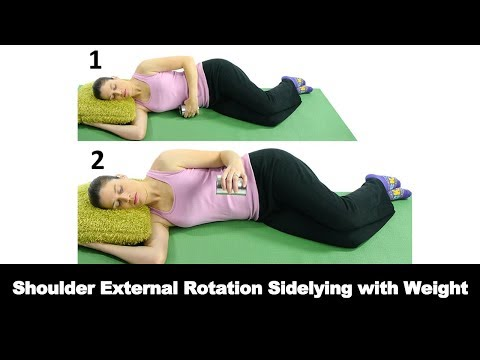 Shoulder External Rotation with a Weight for Shoulder Mobility - Ask Doctor Jo