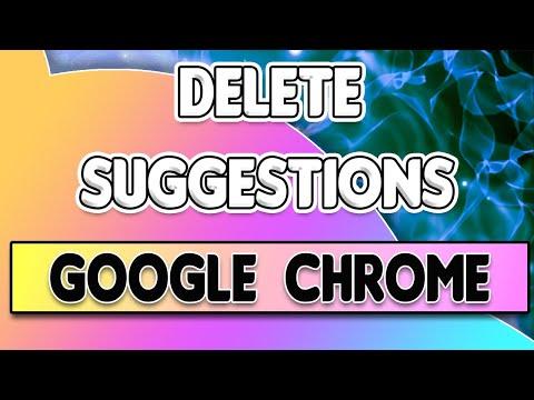How to DELETE/REMOVE AUTO SUGGEST URLs in GOOGLE CHROME. Delete URL Auto-Fills in Google Chrome!
