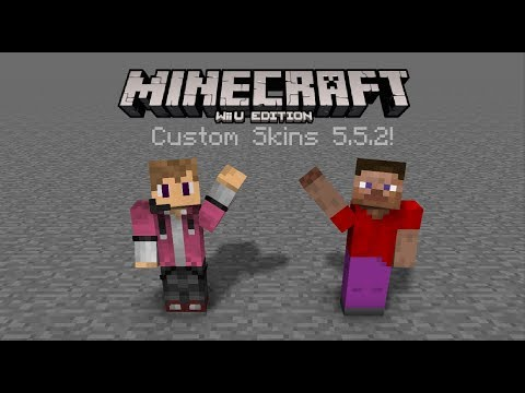 Minecraft Wii U Edition Custom Skins 5.5.2 tutorial!