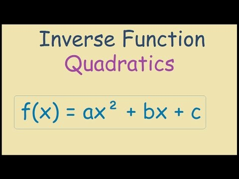 Inverse Function of a Quadratic in Standard Form