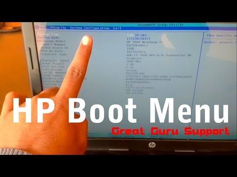 hp boot menu