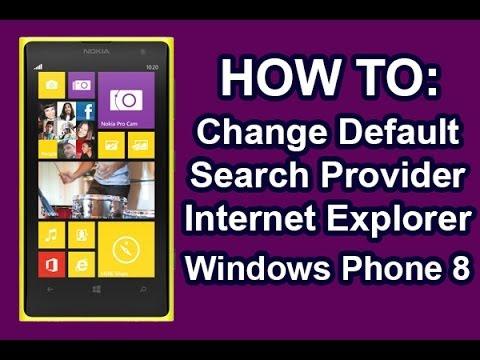 Nokia Lumia - How To Change Search Provider Internet Explorer
