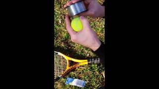 Download How to Put Lights on tall trees 60ft 18m with tennis ball and tennis racquet Video