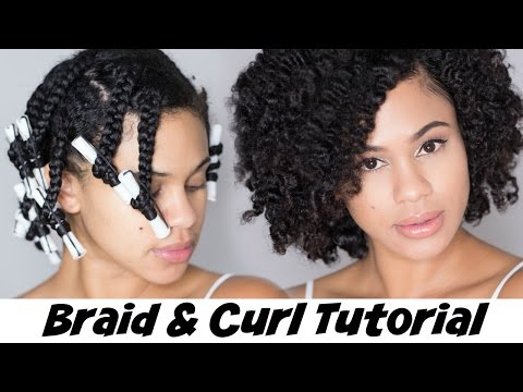 Braid and Curl Tutorial on Natural Hair with Hair Yum