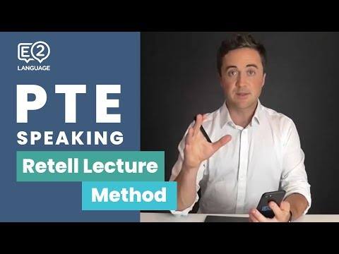 PTE Speaking | Retell Lecture METHOD with Jay!