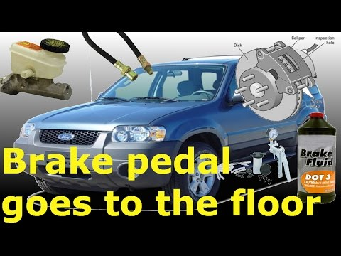 How to replace brake hoses and bleed the system -ford escape