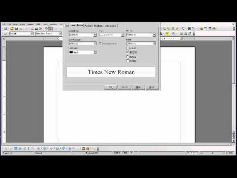 OpenOffice Tutorial: Using Text Shadows