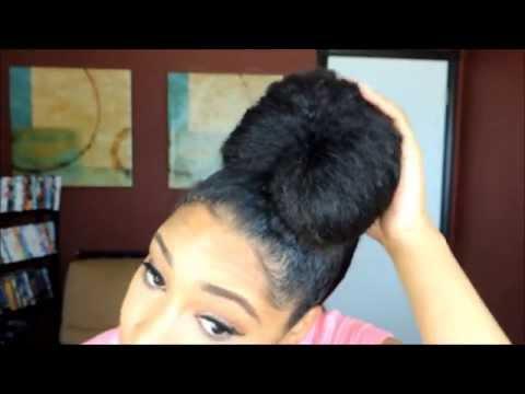 High Bun | Top Knot Tutorial on Natural Hair