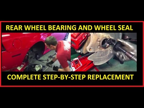 Rear axle shaft, wheel bearing, and wheel seal replacement: FORD Mustang Explorer F-150 Crown Vic
