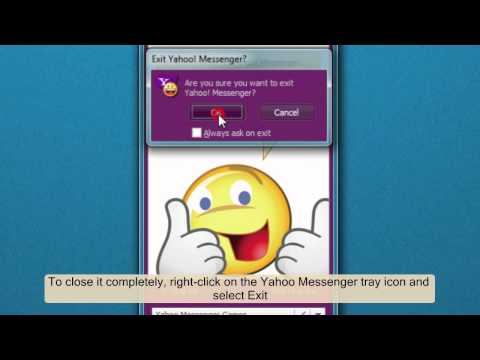 How to turn off Yahoo! Messenger