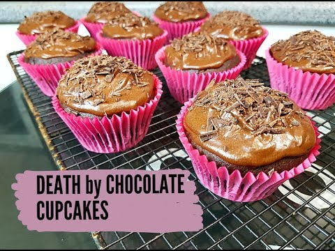DEATH BY CHOCOLATE CUPCAKES (VEGAN) - CookingwithKarma