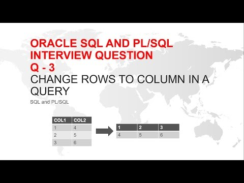Oracle sql Interview Question : How to change rows to column