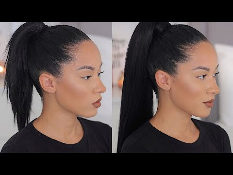 LONG SLEEK PONYTAIL WITH SHORT/MEDIUM HAIR