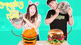 Download SQUISHY VS REAL FOOD CHALLENGE ~ we ate cactus?? Video