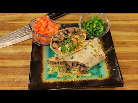 Grass Fed Steak Wrap - beef burrito recipe - health industry - how to make a mexican burrito recipe
