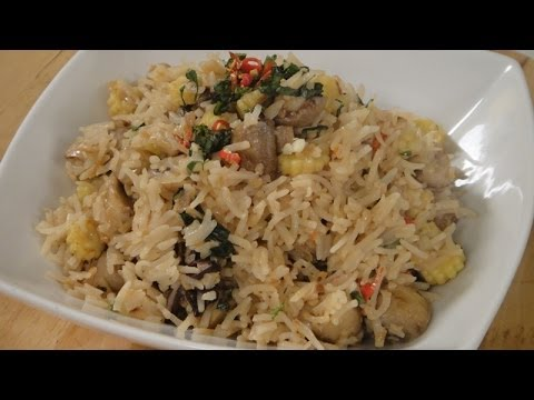 Thai Mushroom and Babycorn Rice | Sanjeev Kapoor Khazana