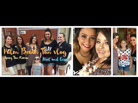 Spray Tanning Review at Palm Beach Tan |Meet & Greet vlog