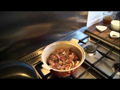 Beef in Pepper Wine with Pear and Ginger Pudding   Carol Harris, Food on Shotta TV